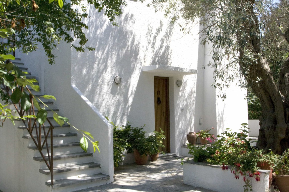 The unique location of Alexandra villa in Agia Paraskevi in Skiathos  is surrounded by olive tree gardens, and it's only a 5-min walk to the beach and bar-restaurants